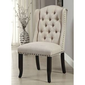 Shop Furniture of America Telara Tufted Wingback Dining Chair  Set     Furniture of America Telara Tufted Wingback Dining Chair  Set of 2