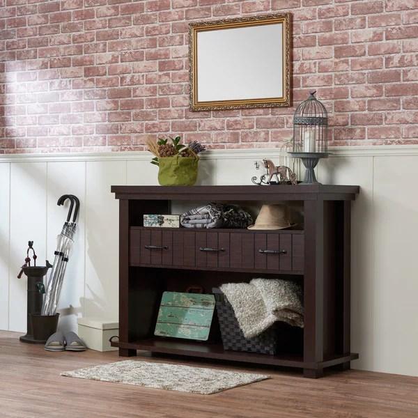Shop Furniture Of America Cresci Rustic Espresso Glass Top