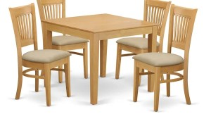 Shop 5 Piece Oak Square Kitchen Table And Chairs Set