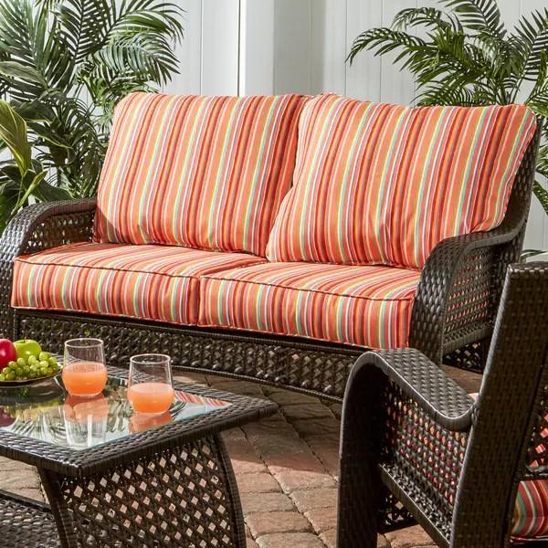 Shop Greendale Deep Seat Outdoor Loveseat Cushion Set