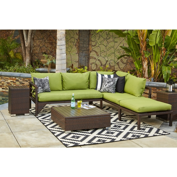 Teak Sectional Sofa Set 8 Pc