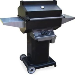 Buy Natural Gas  Cast Iron Gas Grills Online at Overstock com   Our     Phoenix Grill   PFMG Black   Liquid Propane Grill Head On Black Pedestal  Cart