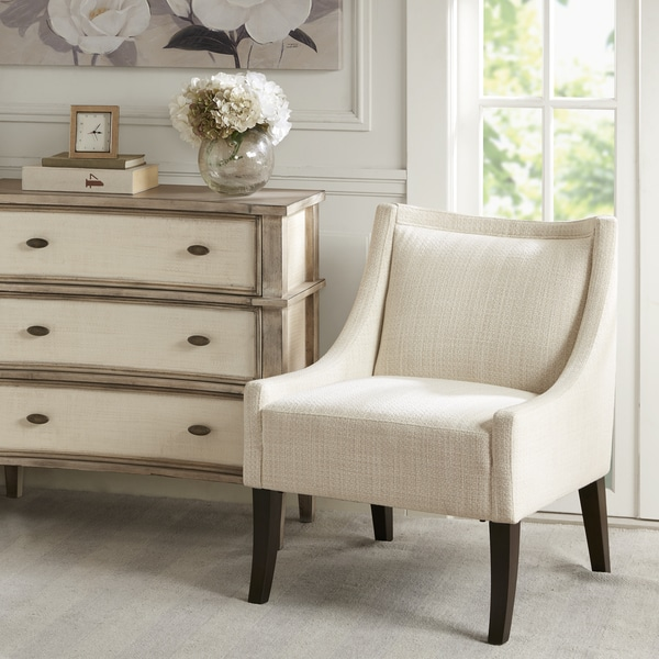 Cream Accent Chair And Brown