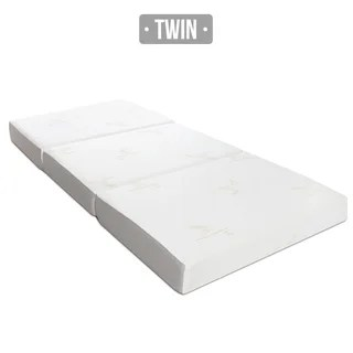 Buy Orthopedic Mattresses Online at Overstock com   Our Best Bedroom     Milliard 6 inch Memory Foam Tri fold Twin size Mattress with Removable Cover