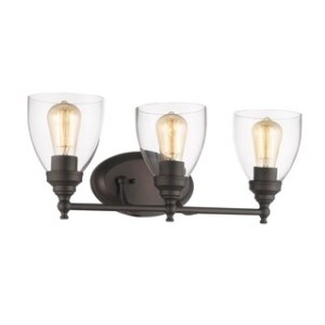 Buy Vanity Lights Wall Lights Online at Overstock com   Our Best     Chloe Transitional 3 light Oil Rubbed Bronze Bath Vanity Light
