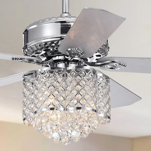 crystal chandelier with fan # 5