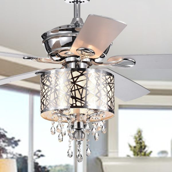 crystal chandelier with fan # 21