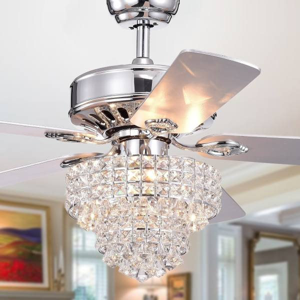 crystal chandelier with fan # 73