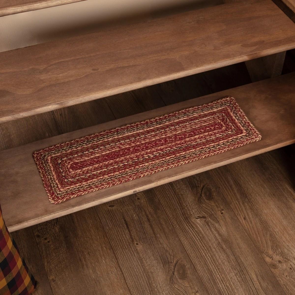 Shop Vhc Cider Mill Burgundy Red Primitive Country Flooring Jute | Wood Floor Stair Treads | Brazilian Cherry | Stair Nosing | Oak Stair Risers | Vinyl Flooring | Carpet