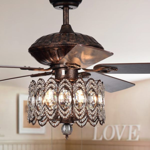 crystal chandelier with fan # 10