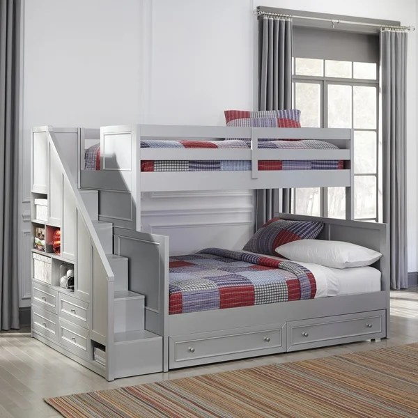 Shop Copper Grove Dugaresa Grey Wood Twin Over Full Bunk
