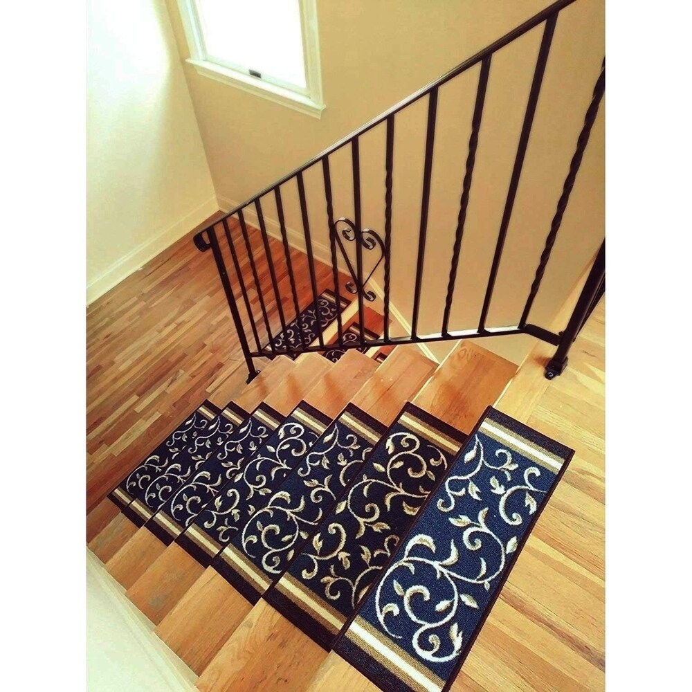 Stair Treads Shop Online At Overstock | Best Non Slip Carpet For Stairs | Wood | Bullnose Carpet | Tile | Stair Runner | Wood Stairs