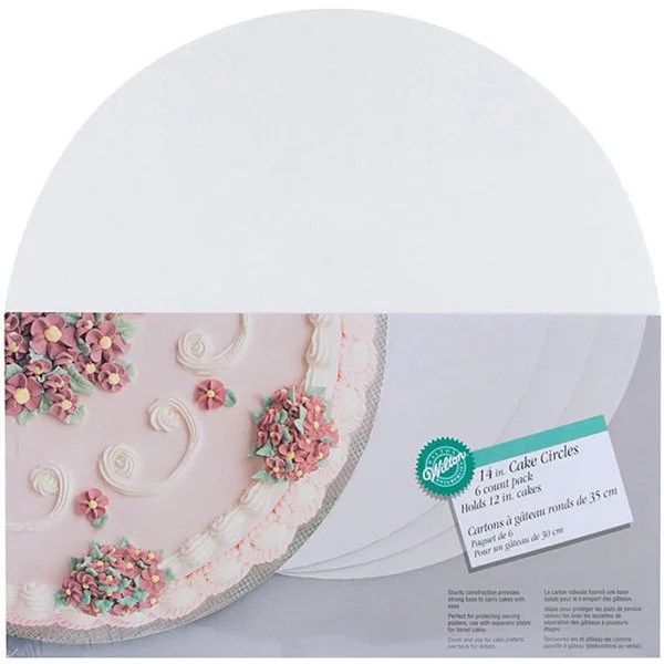 Shop Wilton 14-inch Circle Cake Boards (Pack of 6) - Free ...