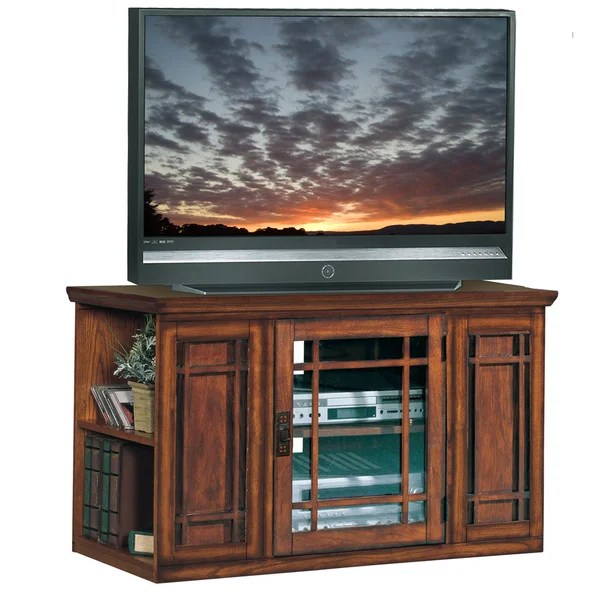 Shop Mission Oak 42 Inch Bookcase Tv Stand Amp Media Console