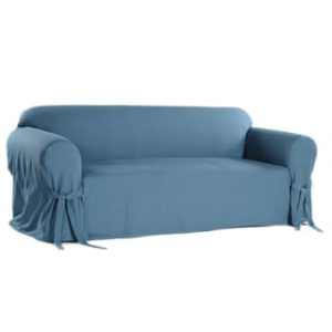 Buy Sofa   Couch Slipcovers Online at Overstock com   Our Best     Classic Slipcovers Machine Washable Cotton Duck Sofa Slipcover