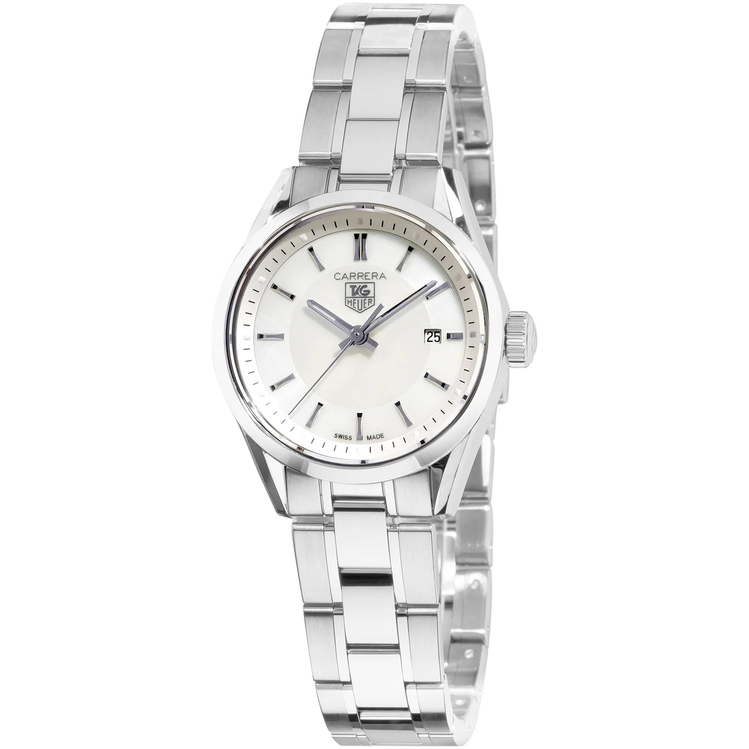Tag Heuer Women's WV1415.BA0793 'Carrera' Mother of Pearl ...
