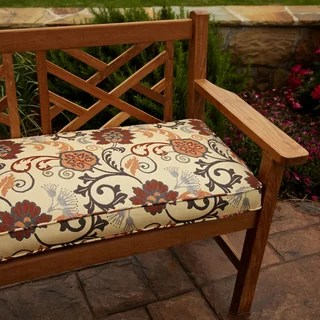 Penelope Red 60 Inch Outdoor Bench Cushion Free Shipping