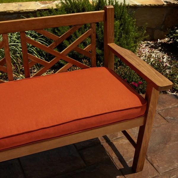 Shop Clara Rust Indoor Outdoor 48 Inch Sunbrella Bench