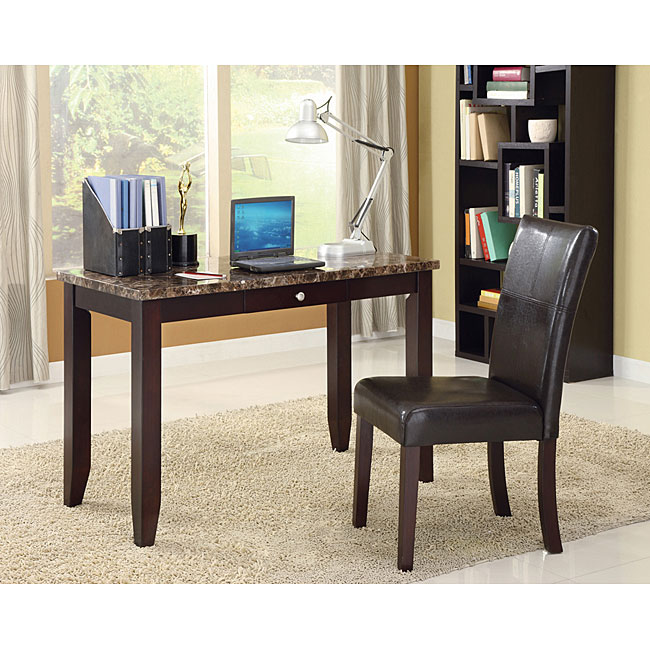 Faux Marble Coffee Table Black