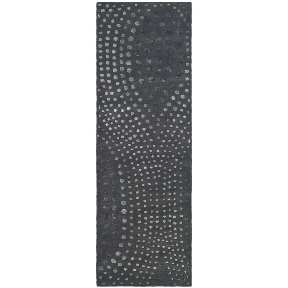 Shop Safavieh Handmade Soho Abstract Wave Dark Grey Wool
