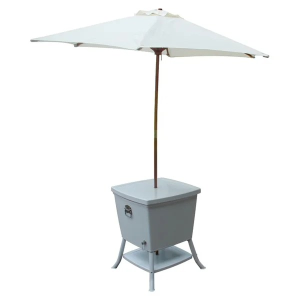 Outdoor Cooler Table With Umbrella Free Shipping Today