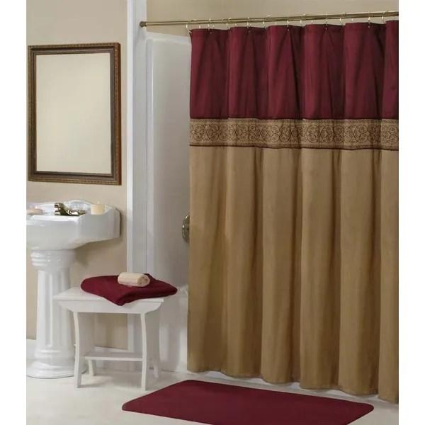 Maroon Shower Curtain