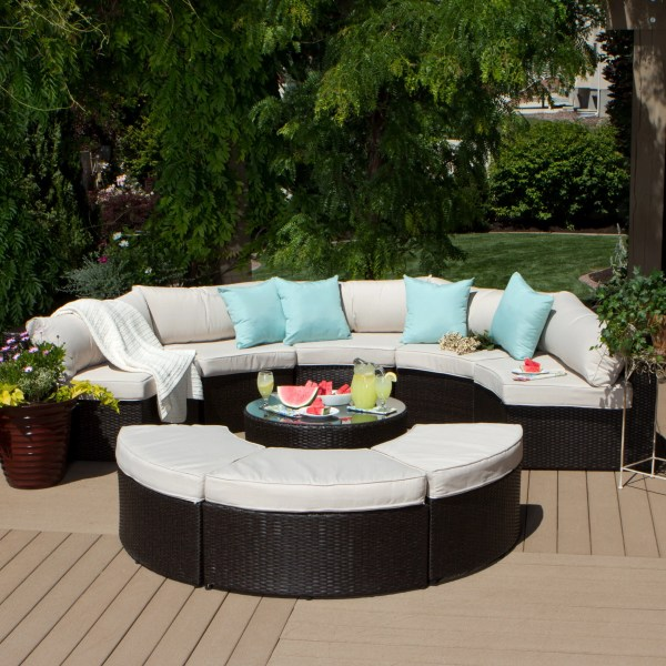 Patio Furniture   Clearance   Liquidation   Find Great Outdoor     Clearance  Havenside Home Stillwater 9 piece Outdoor Sectional