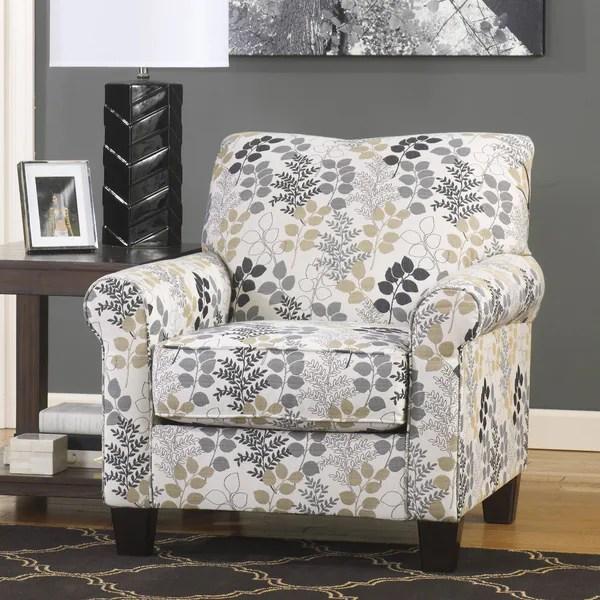 Blue Armless Accent Chair