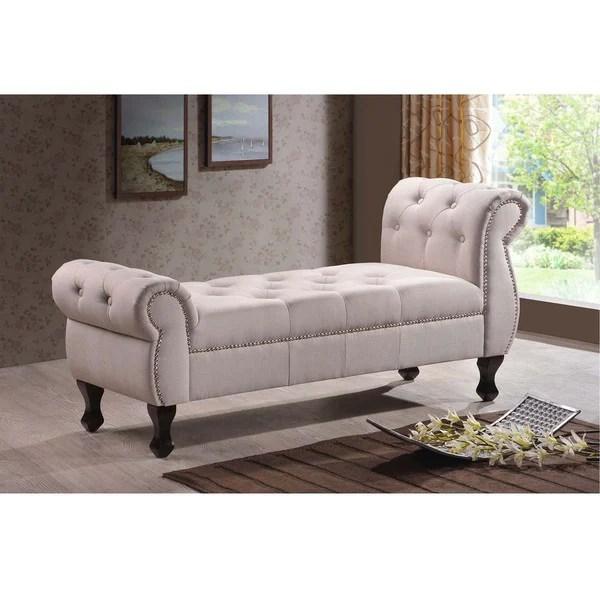 Shop Baxton Studio Zook Light Beige Grey Upholstered