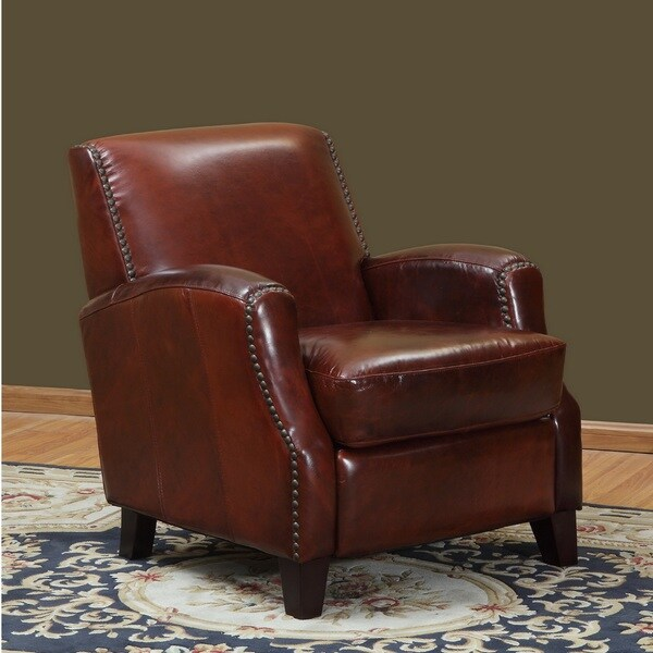 Shop Lawrence Leather Club Chair Free Shipping Today