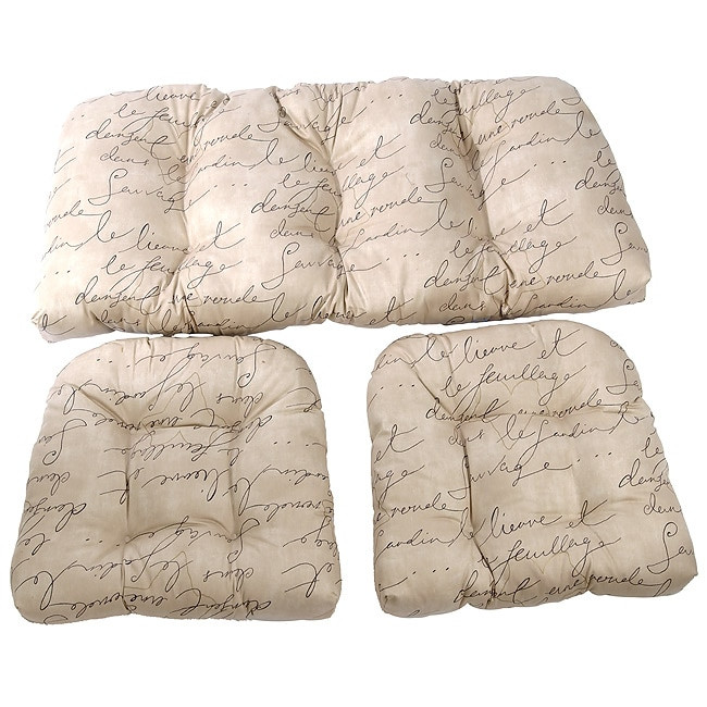 Shop Script Wicker Sette 3 Piece Cushion Set Free