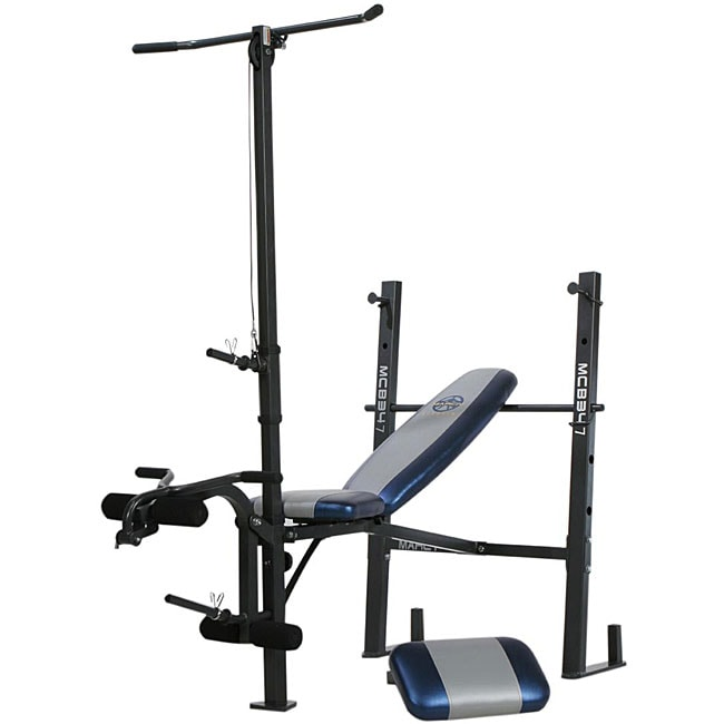 Marcy Standard Workout Bench With Lat Pull Down Free