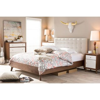 Vilas Queen Size Mid Century Style Bed 80071351