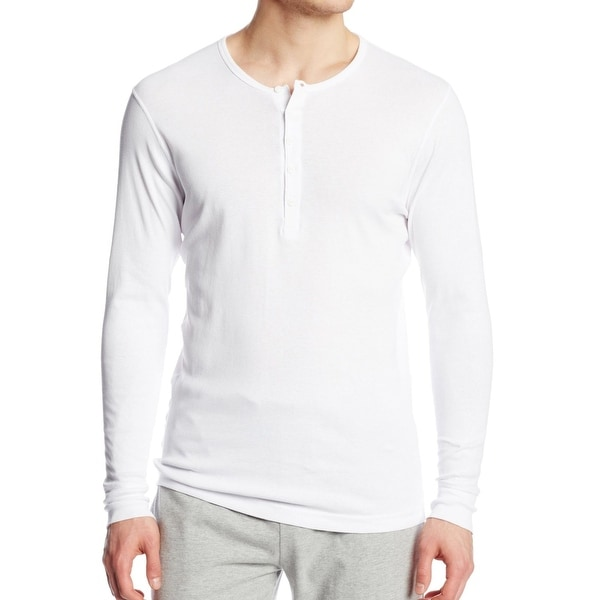 Sleeve White Mens Long Button