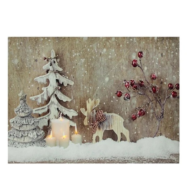 Led Canvas Wall Art Christmas