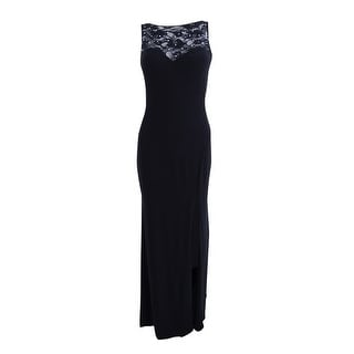 Xscape Dresses   Find Great Women s Clothing Deals Shopping at     X By Xscape Women s Rhinestone Illusion Lace Gown   Black