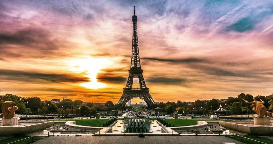 Sunrise Of Paris Stock Footage Video 100 Royalty Free