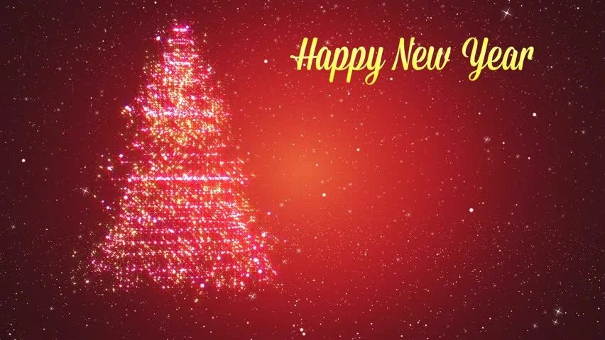 Stock video of merry christmas and happy new year   12394601     Merry Christmas and Happy New Year Greeting intr