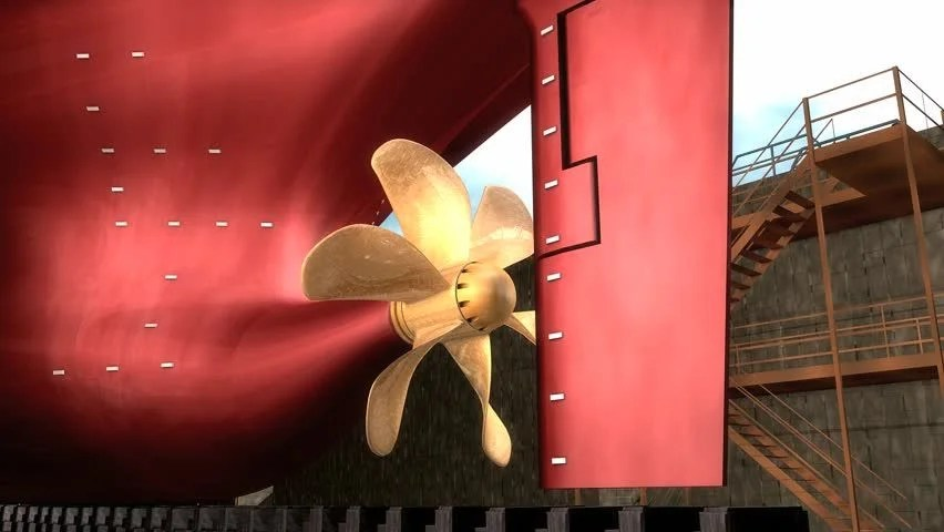 Ship Propeller Stock Footage Video 100 Royalty Free