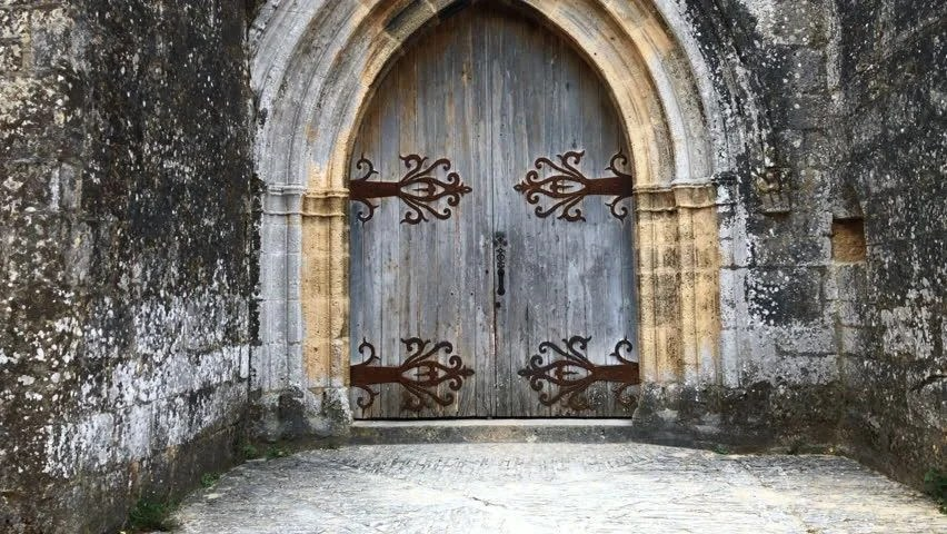 Old Medieval Door On Old Stock Footage Video 100 Royalty