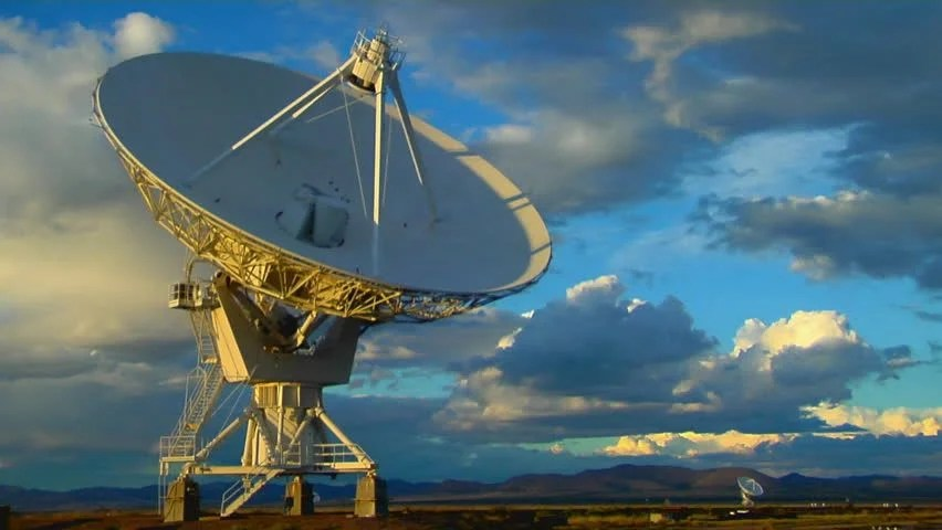 A Satellite Dish Moves In Stock Footage Video 100