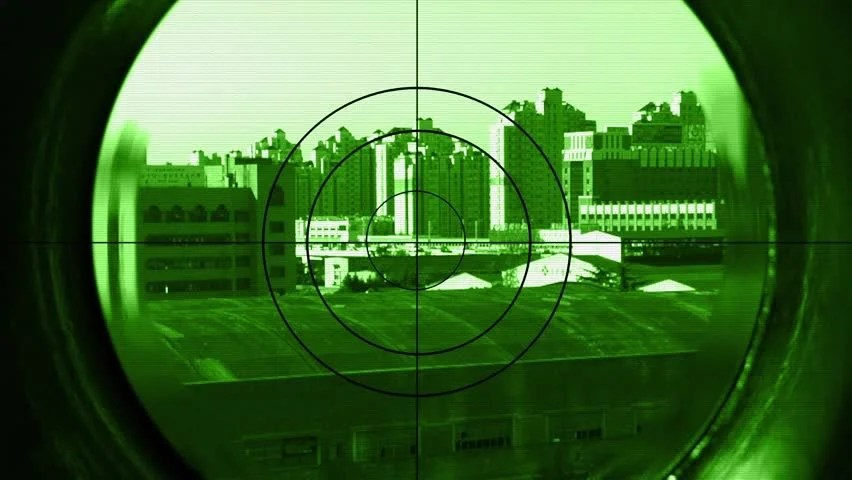 Sniper Scope In Night Vision Stock Footage Video 100 Royalty Free 4932338 Shutterstock