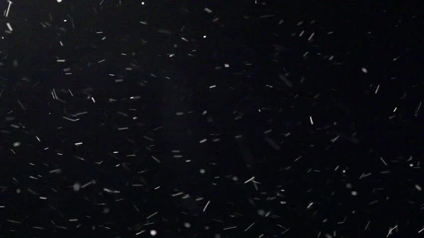 Snow Blizzard Alpha Matte Stock Footage Video 100