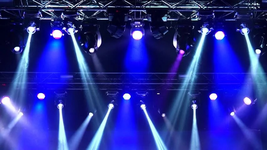 Stage Lighting Effects Rays Stock Footage Video 100