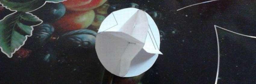 самодельный шарик из бумаги
