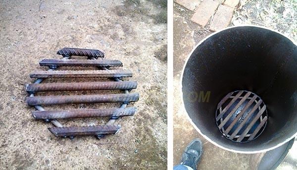A rácsos rácsos rács összeszerelése és felszerelése