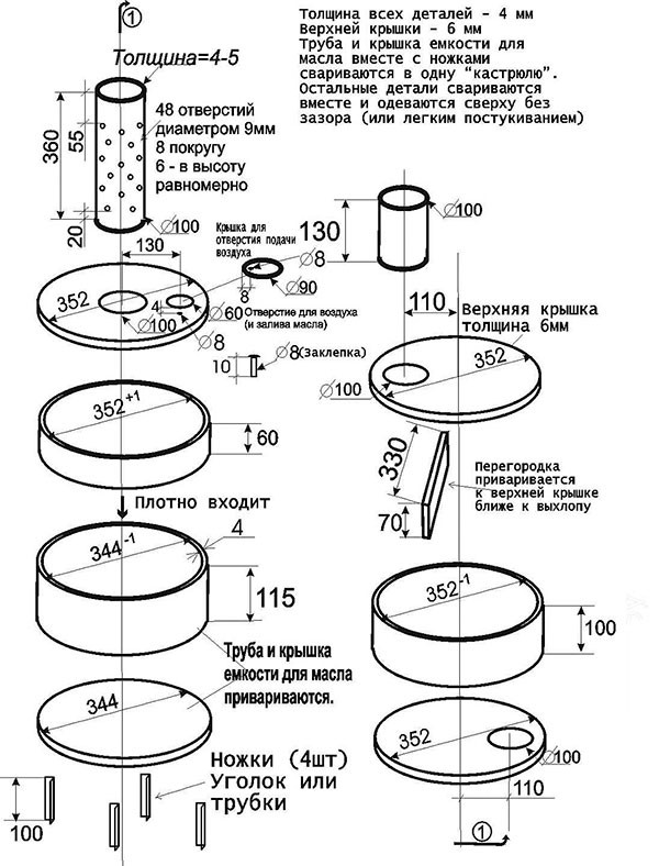 Overbilling sütő - rajz