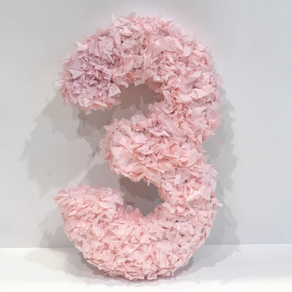 цифра 3 из салфеток