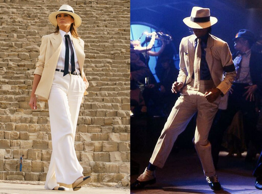 Melania Trump's Latest Outfit Draws Comparisons to Michael ...