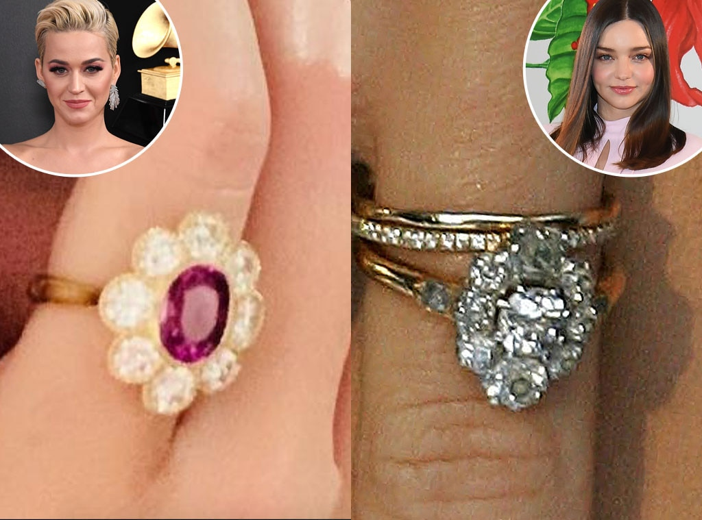 Katy Perry's Engagement Ring From Orlando Bloom Looks Almost Identical to Miranda Kerr's   E! News